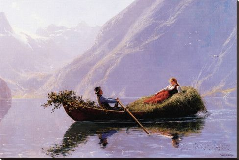 A Summer Romance Stretched Canvas Print by Hans Dahl at AllPosters.com
