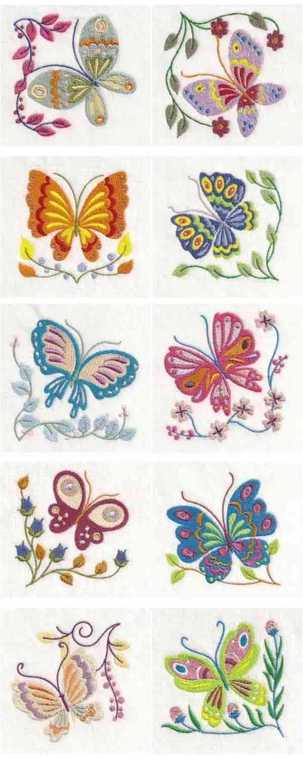 Jacobean Butterflies Embroidery Machine Design by sick