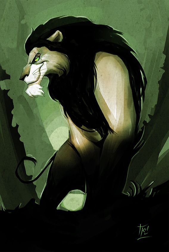 Scar is my favorite Disney Character. I'd love this as a Tattoo. I also Love Shere Khan the tiger. I like villains the most.