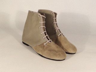grey leather and suede ankle boot – by meg