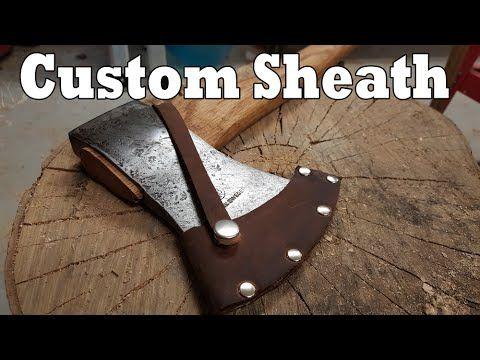 DIY | Leather axe sheath - YouTube
