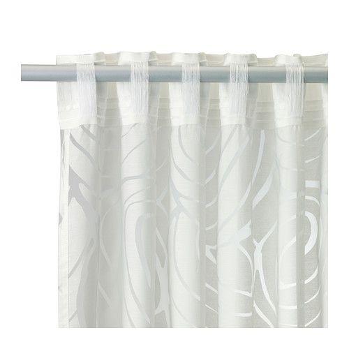 NORDIS Sheer curtains, 1 pair, white white 57x98