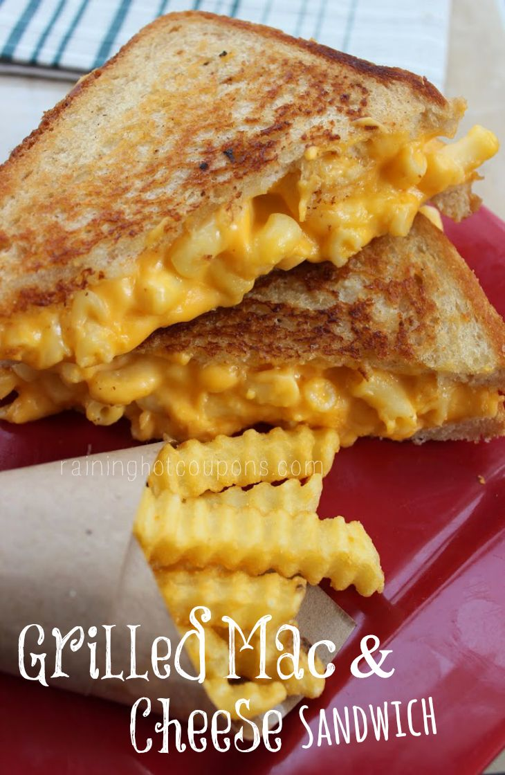 Grilled Mac & Cheese Sandwich this is so wrong but looks so good