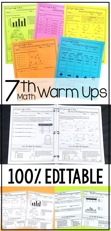 Mathe Aufwarmubungen Der 7 Klasse Ein Jahr Lang Und Themenbasiert Mit Spiral Review 7th Grade Math Seventh Grade Math 7th Grade Math Worksheets [ 1523 x 736 Pixel ]