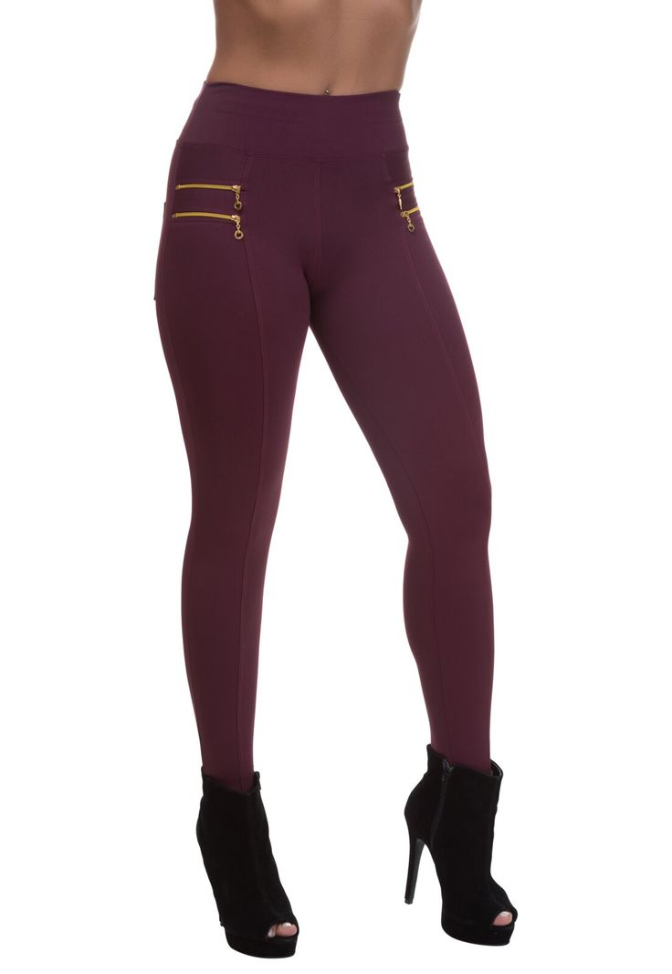 Calça Legging  Miss Blessed Montaria Zíper Marsala in 2020 | Fashion, Sweatpants, Pants