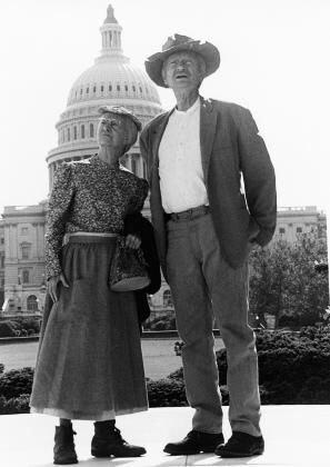 Buddy Ebsen and Irene Ryan