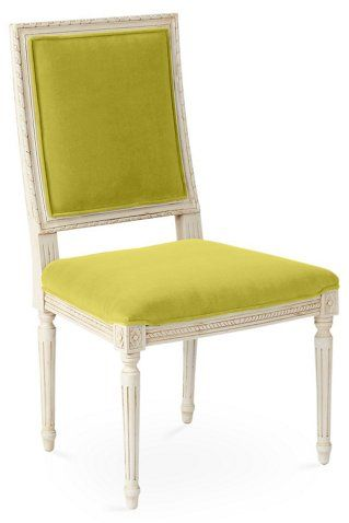 Exeter Side Chair Chartreuse Velvet Now 46000 Was 99500