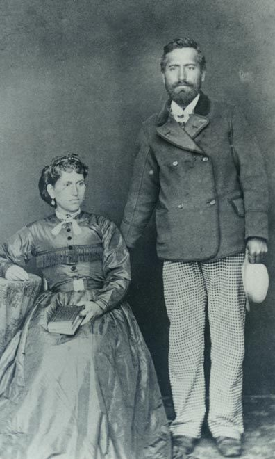Kate Wyllie with her half-brother, Wi Pere