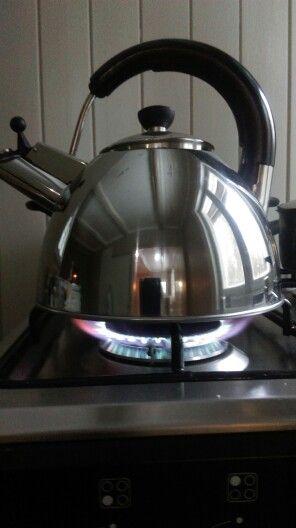 Og snart er kaffen klar..