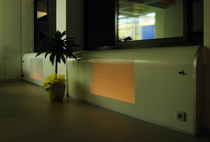 Meydan Architecture Design | Markum.net Office, perforated and lightened composite panel hides the heating and cooling radiators