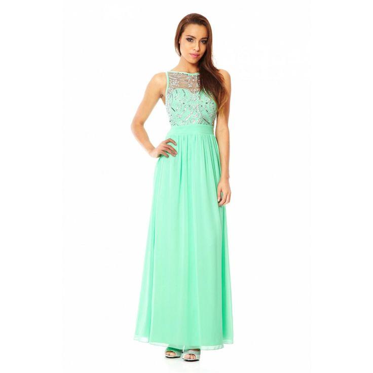 Maxi chiffon dress mint