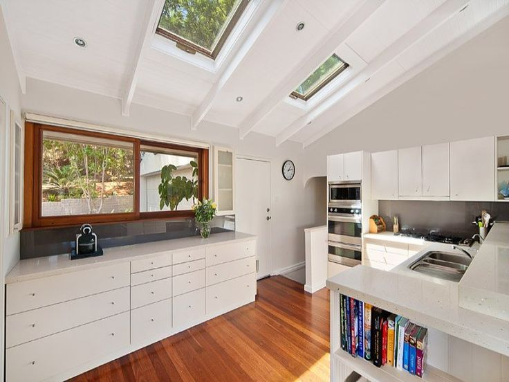 Skylights Letting In Natural Light Into The Kitchen. #skylights #kitchens Part 66