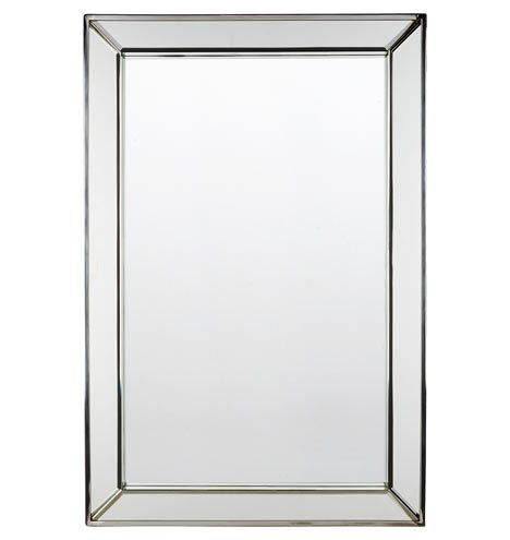 Beveled Frame Mirror Powder Polished Nickel And Products