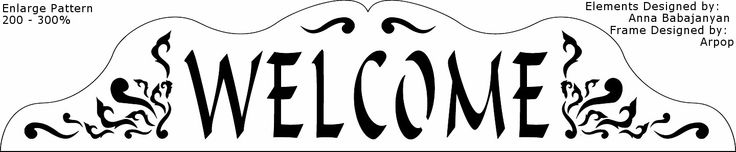 Free Scroll Saw Patterns by Arpop: Welcome Signs