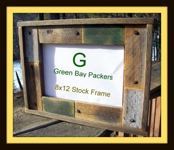 green bay packer stock frame by once abarn a time