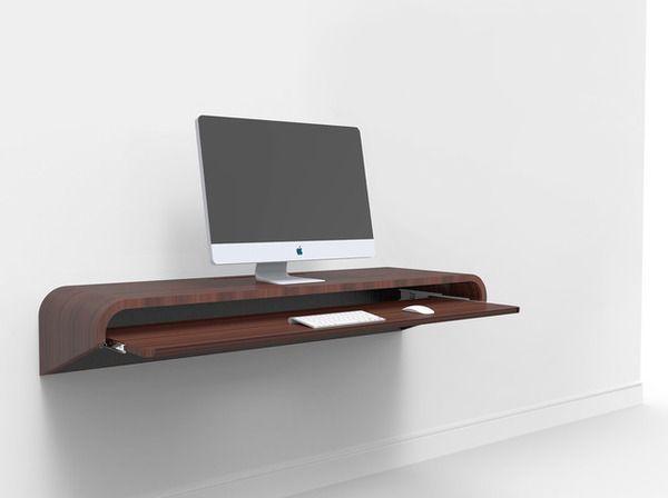 FLOAT WALL DESK Minimal Home Office Concept by Orange22 Design Lab