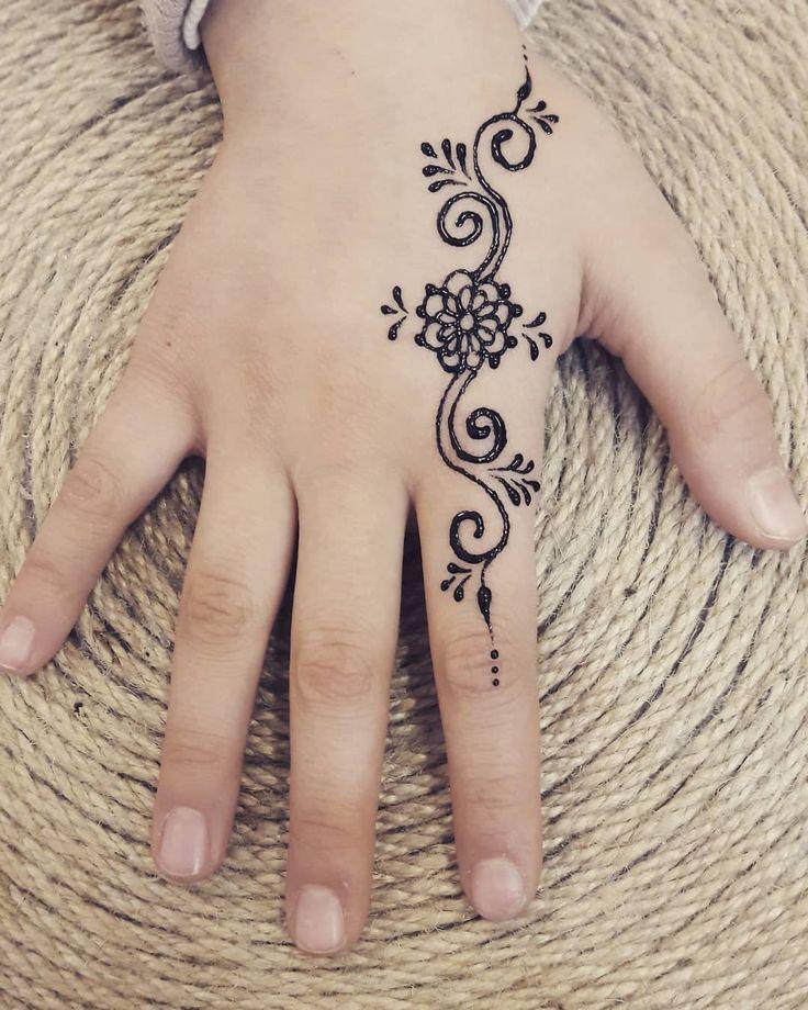 Henna Tattoo Blume Vorlage Mehndi Satz Stockvektor