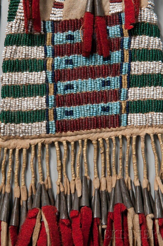 Southern Cheyenne Beaded Hide Pipe Bag | Sale Number 2745B, Lot Number 139 | Skinner Auctioneers