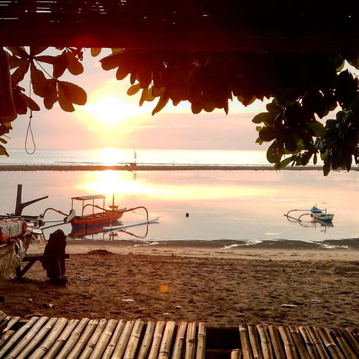 Sunrise at low tide, Sanur. Sanur is a great location for anyone wanting quality accommodation, great food options, a safe swimming beach & laid back, beach village vibe. We hadn't visited Sanur in a few trips so it was like coming home being there, super comforting. Do you have a home away from home that feels this good?