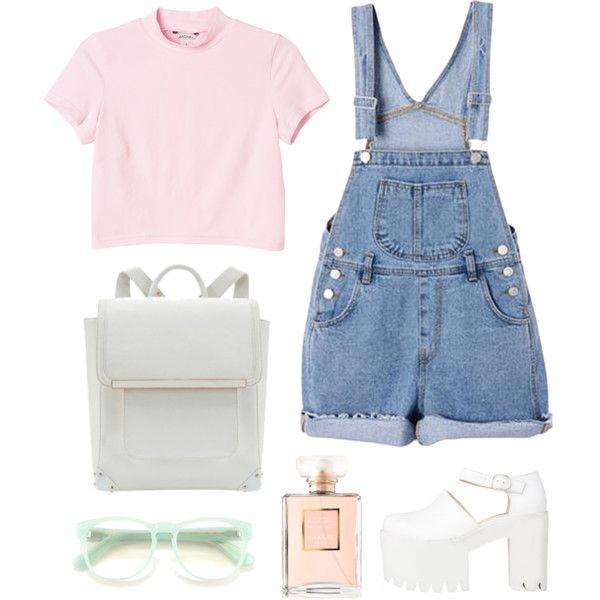 top simple cute set by flam16 on Polyvore featuring Monki, Wildfox and Chanel