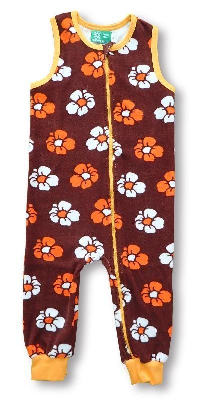 Naperonuttu terry overalls - Retro flower Retro Baby Clothes - Baby Boy clothes - Danish Baby Clothes - Smafolk - Toddler clothing - Baby Clothing - Baby clothes Online