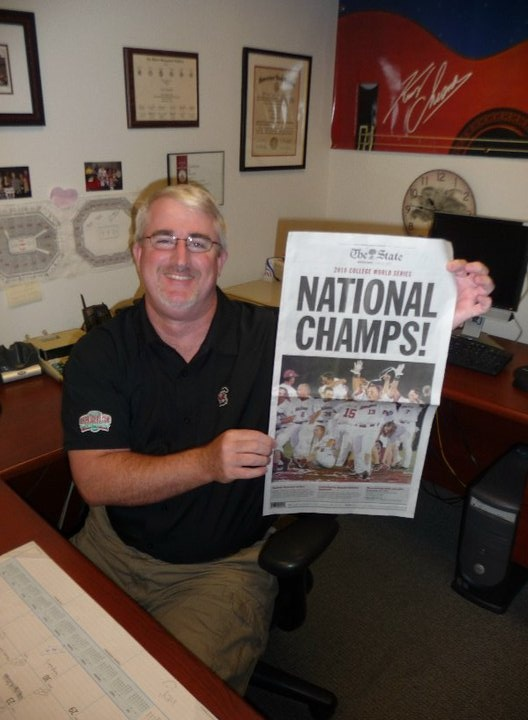 Our Box Office Manager, a USC alumnus, is excited about the National Championship celebration 2010 @Colonial Life Arena  #GamecocksBaseball #CLAevents #ColonialLifeArena #FamouslyHot #ColumbiaSC #SCTweets #CLAambassador #Gamecocks