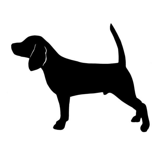 Coonhound Silhouette Embroidery Design