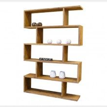 Zig Zag bookcase in natural wood