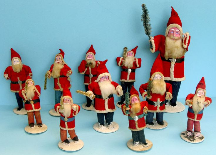 Antique Christmas Ornaments Antique Papier Maché Santas