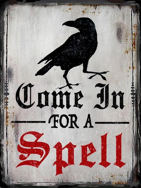 "Edgar Allen Poe Halloween Raven ""Come in for a Spell"" New Halloween 2017 Collection"