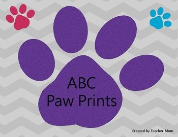 Print, laminate and cut out paw prints. Students put the paw prints in ABC order. On the recording sheet they fill in the missing letters in the correct order.