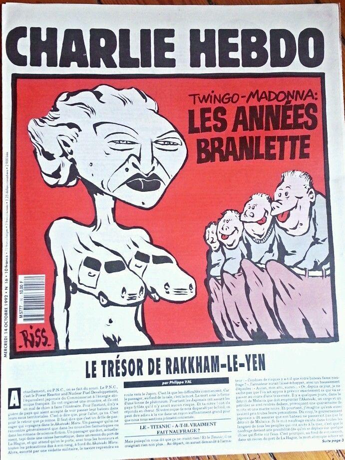 Charlie Hebdo - # 16 - 14 Octobre 1992 - Couverture : Riss