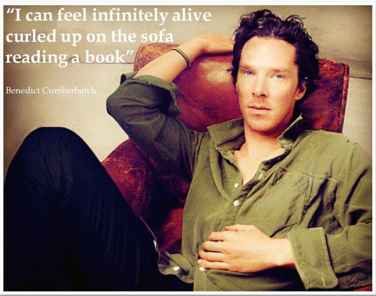 Benedict Cumberbatch book quote :) #efeitodoslivros #Benedictcumberbatch