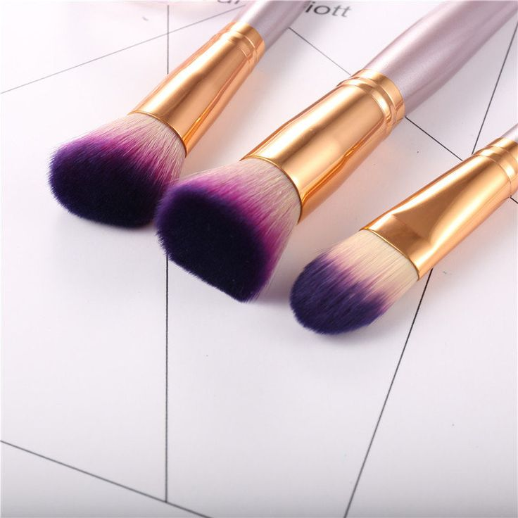 9Pcs Soft Makeup Brushes Set Blend Foundation Eye Shadow Powder Lips Liner Cosmetics Tool