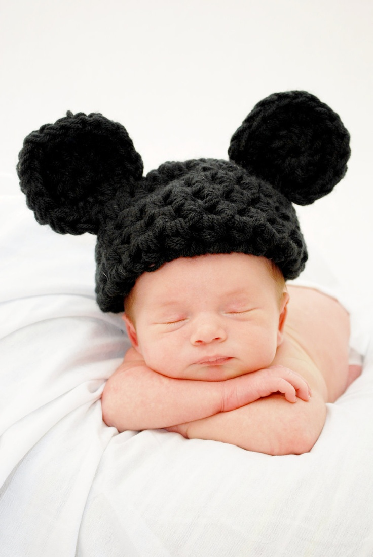 Mickey/Minnie Mouse Hat -- Newborn Photo studio Prop Baby Toddler child adult. $12.49, via Etsy.