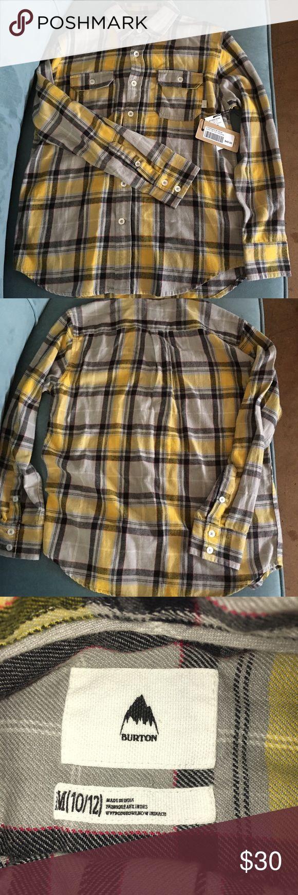 New Burton Boys Brighton Woven Shirt - Medium New with tags Burton boys Brighton long sleeve shirt                  Size: Boys medium (10/12) 100% cotton Burton Shirts & Tops Button Down Shirts