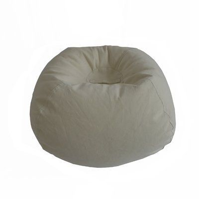 Ace Casual Furniture Classic Bean Bag Chair Upholstery: Vintage White