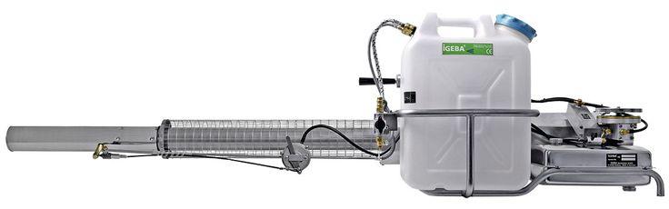 TERMONEBULIZADORES TF 65 - IGEBA Peso: 17,7 Kg, Dimensiones: 184 x 45 x 51 Capacidad depósito de sustancia: 20 Lts Consumo de gasolina: 4,0 l/h Presión: 0,3 bar