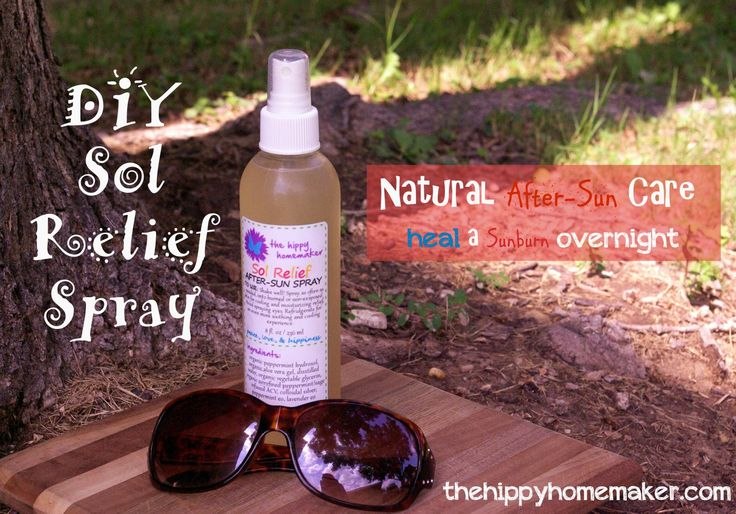 Sol Relief DIY Natural After-Sun Care - thehippyhomemaker.com