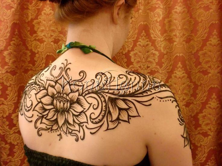 Henna Lotus Flower Tattoo Henna back tattoo