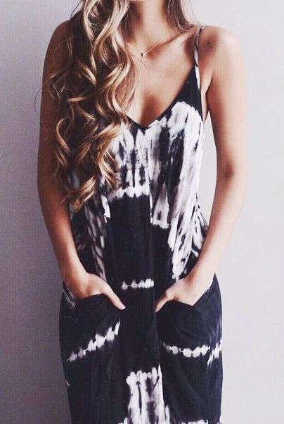 Blown highlights black and white dresses