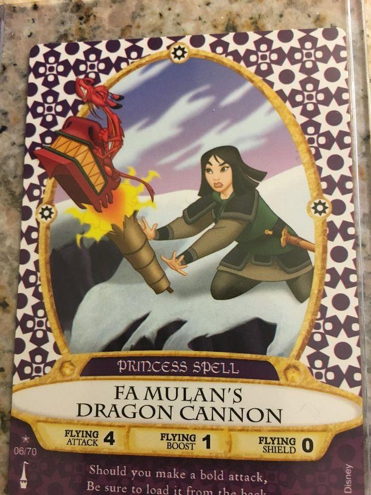 Walt Disney World Sorcerers of the Magic Kingdom Card #6 Fa Mulan's Dragon Cannon