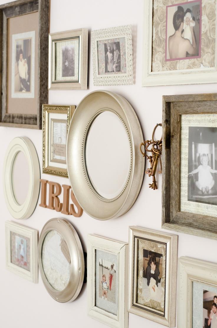 vintage photo wall.
