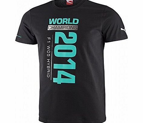 Mercedes AMG Petronas Mercedes 2014 World Constructors Champions t-shirt (Medium) Celebrate Mercedes World Constructors win with this Constructors Champions t-shirt. The t-shirt is black with World Champions 2014 printed on the front in silver and gre (Barcode EAN = 4055262168933) http://www.comparestoreprices.co.uk/formula-1-merchandise/mercedes-amg-petronas-mercedes-2014-world-constructors-champions-t-shirt-medium-.asp