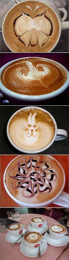Кофе арт: искусство рисовать на кофе