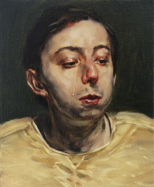 Michael Borremans (Belgian: 1963) - 'The Tear,' 2016 @ Zeno X Gallery