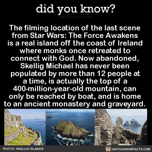 The Filming Location, of the Last Scene from Star Wars - The Force Awakens.