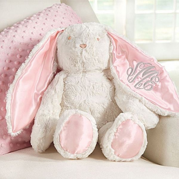 337 best lil ladies baby girl gifts images on pinterest plush minky bunny available in pink blue personalization available pink satingirl giftsmudpiebunnieseaster giftbaby negle Choice Image