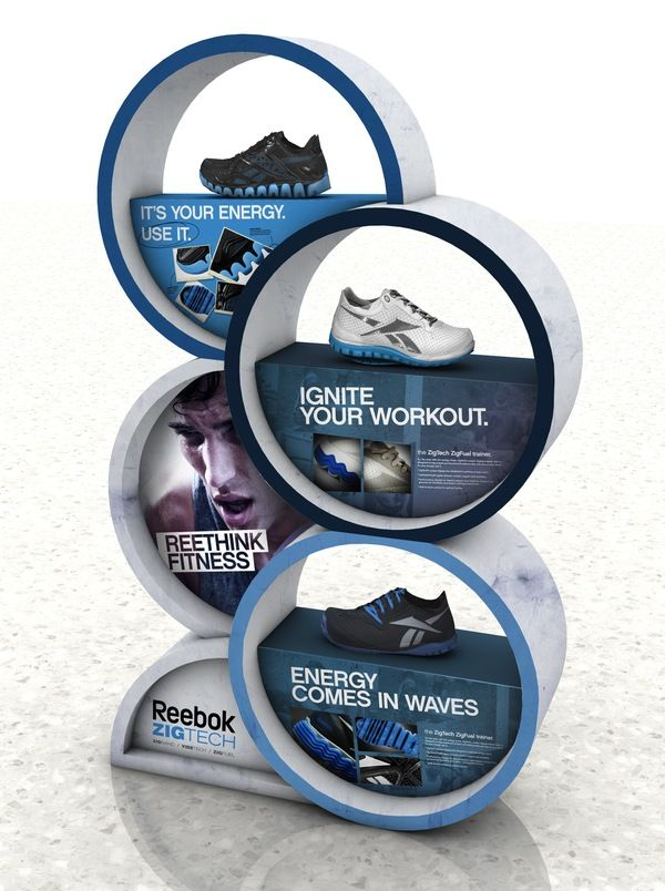 Point of Purchase Design | POP | POSM | POS | REEBOK ZIGTECH by Robert Sindermann, via Behance