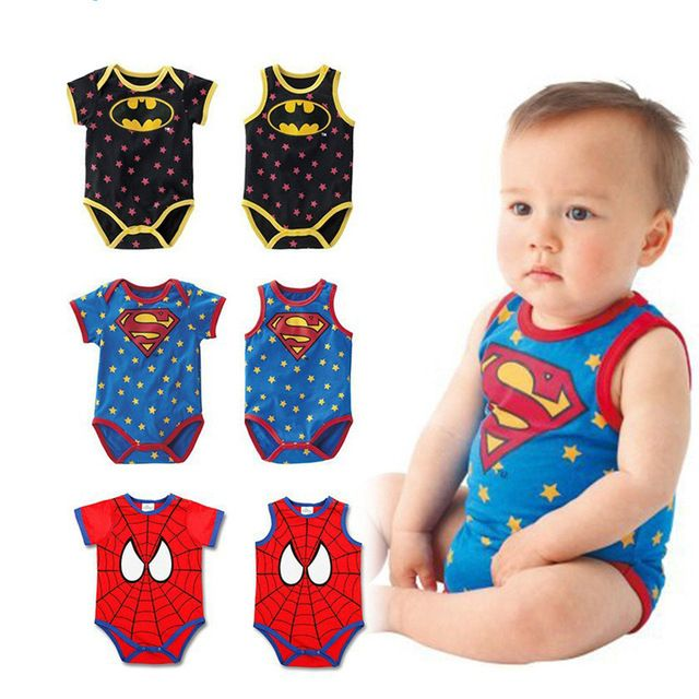 Check lastest price Summer Newborn Baby Boys Girls Clothes Superman Batman Spiderman Rompers Cotton Short Sleeve Vest Suit 0-24M Kids Jumpsuits just only $5.12 - 5.58 with free shipping worldwide  #babyboysclothing Plese click on picture to see our special price for you